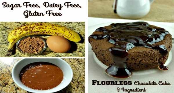 This 3 Ingredient Gluten Free Chocolate Cake is High In Potassium and Protein